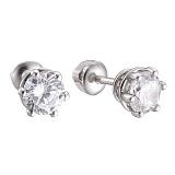 Серебряные серьги Лея