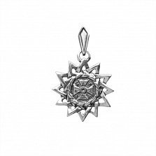 Серебряный узорный подвес Звезда Эрцгаммы с чернением