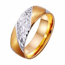 Золотое обручальное кольцо Изобилие любви