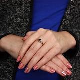 Золотое кольцо Зоряна с сапфиром и бриллиантами