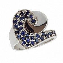 Серебряное кольцо с сапфирами Фиделия