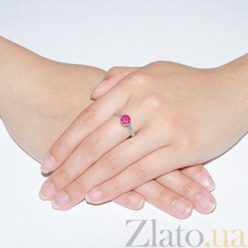 Серебряное кольцо с рубином Лея 1051/9р руб
