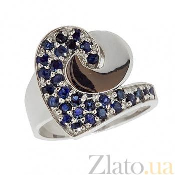 Серебряное кольцо с сапфирами Фиделия ZMX--RS-6451-Ag_K