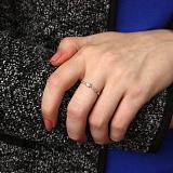 Золотое кольцо Mild Flower с бриллиантами