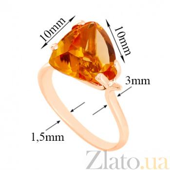 Золотое кольцо с цитрином Сандра VLN--112-472-8