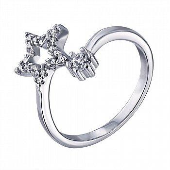 Серебряное кольцо с цирконием 000139900