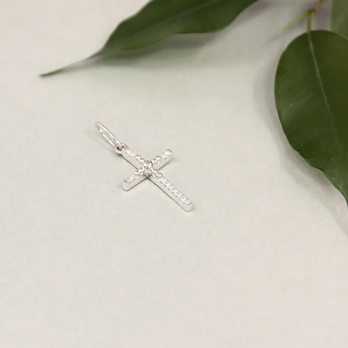 Серебряный крестик с фианитами 000025292 000025292