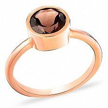 Помолвочное кольцо из золота с раухтопазом Ронда
