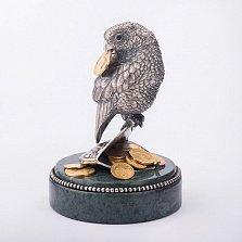 Серебряная статуэтка ручной работы Богатый попугайчик