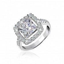 Серебряное кольцо Николь с прозрачными фианитами