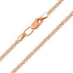 Цепочка из красного золота с родированной алмазной гранью 000101647