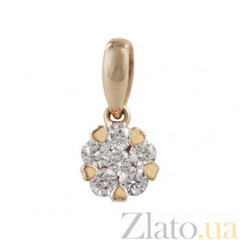 Золотой подвес с бриллиантами София 000026791