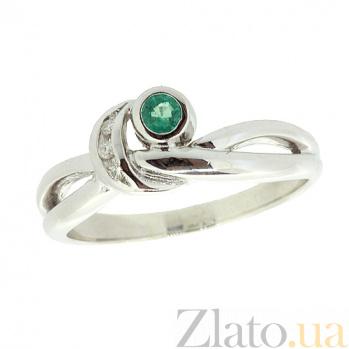 Серебряное кольцо с бриллиантами и изумрудом Хероу ZMX--RDE-6010-Ag_K