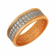 Кольцо из красного золота Веста с цирконием