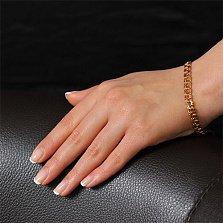 Золотой браслет Бисмарк классический, 6 мм