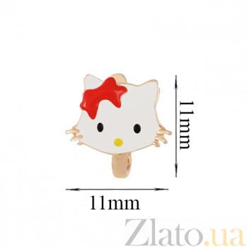 Детские золотые серьги Китти SVA--2102221101/Без вставки