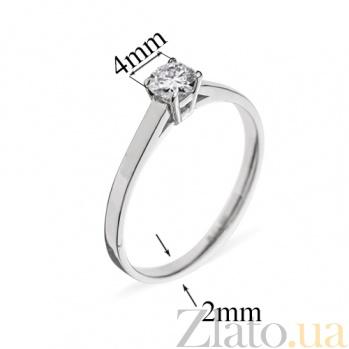 Кольцо из белого золота с бриллиантом Единственная 000026490
