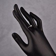 Серебряное кольцо Марина с белым фианитом