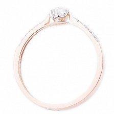 Золотое кольцо красного цвета с бриллиантами Возлюбленная