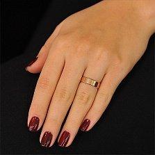 Обручальное кольцо из красного золота Стильная классика