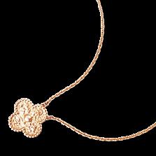 Колье из розового золота Alhambra
