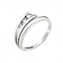 Серебряное кольцо Виола с белым цирконием