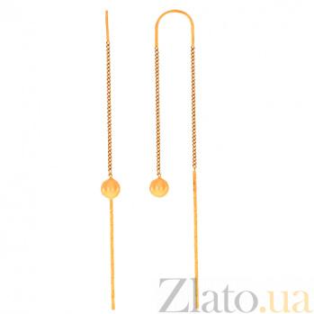 Серьги-подвески из красного золота Джаннет 000023918