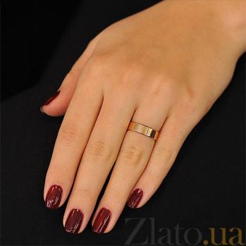 Обручальное кольцо из красного золота Стильная классика 000001639