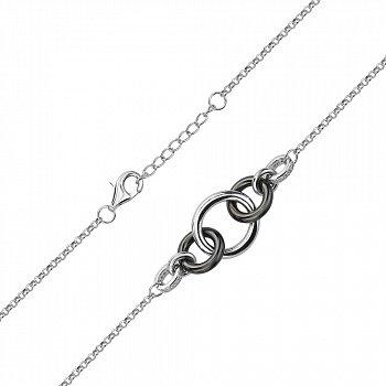 Серебряный браслет с керамикой и фианитами 000145086