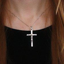 Серебряный крестик Божественное благословение