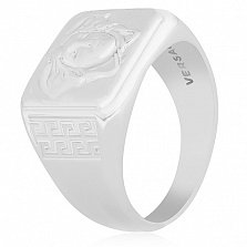 Серебряное кольцо Версаче