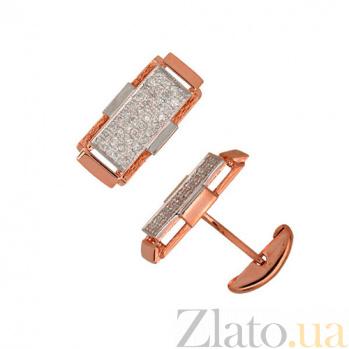 Запонки из красного золота Джаз VLT--Е911