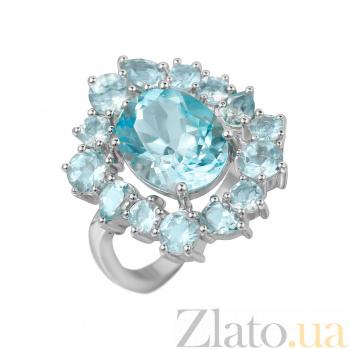 Серебряное кольцо Северина с топазами 000081583