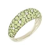 Золотое кольцо с цаворитами и бриллиантами Фелисия