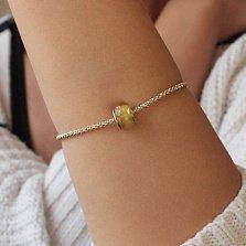 Шарм из лимонного полупрозрачного янтаря Акациевый мед на серебряной основе
