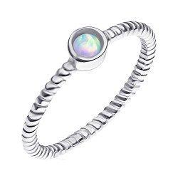 Срібна каблучка з опалом 000139659