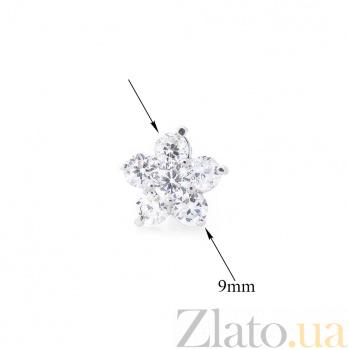 Серебряные серьги-пуссеты Монти с кристаллами циркония 000080154