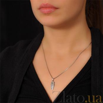 Золотая подвеска Шарм с бриллиантами EDM--П7506/1