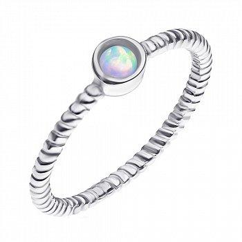 Серебряное кольцо с опалом 000139659
