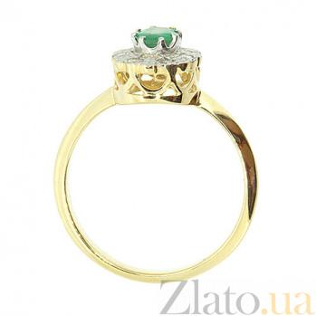 Кольцо из желтого золота с изумрудом и бриллиантами Габриэлла ZMX--RE-5502y_K