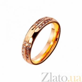 Золотое обручальное кольцо с фианитами Самый желанный подарок TRF--4121213