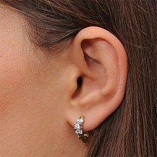 Золотые серьги с бриллиантами Изабелла
