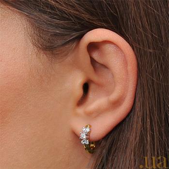 Золотые серьги с бриллиантами Изабелла EDM-С7420/2