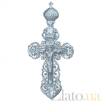 Серебряный крестик Царство  000025370