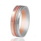 Золотое обручальное кольцо Симметрия любви