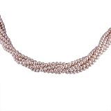 Ожерелье Таура из 5 нитей фиолетового жемчуга с серебряной застежкой