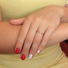 Кольцо Клементина из красного золота с бриллиантом