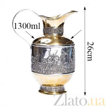 Серебряный кувшин Ирисы 1086