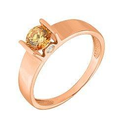 Кольцо в красном золоте Ангелина с кристаллами Swarovski