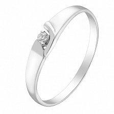 Помолвочное серебряное кольцо Мираж с фианитом